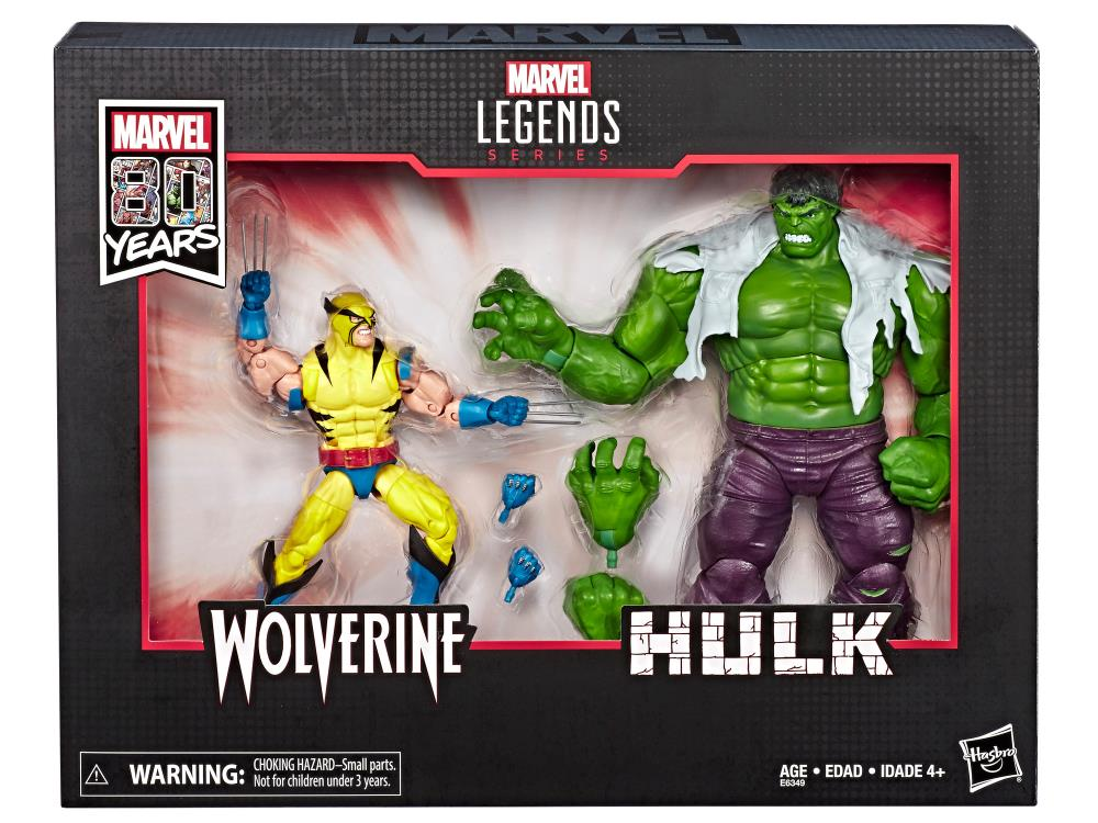 Marvel Legends 80th Anniversary Wolverine and Hulk 6 Inch Action Figure
