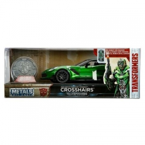 Transformers Last Knight 1:24 Vehicle with Coll. Coin Case Crosshairs (Chevy Corvette Stingray)