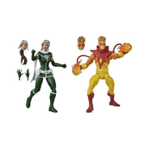 X-Men Marvel Legends Rogue and Pyro 6 Inch Action Figures