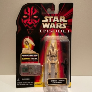 Star Wars Episode I - The Phantom Menace Battle Droid with Blaster Rifle (Clean)