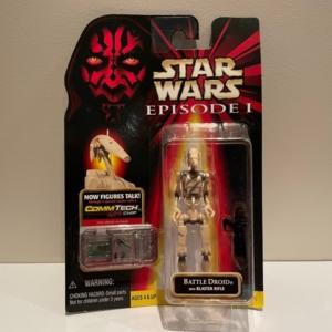 Star Wars Episode I - The Phantom Menace Battle Droid with Blaster Rifle (Sliced)