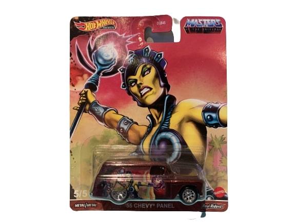 Hot Wheels Pop Culture 2021 MOTU Mix 1 Vehicles 55 Chevy Panel Evil Lyn