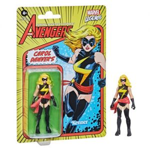 Marvel Legends Retro 375 Collection 3.75 Inch Action Figure Wave 1 Carol Danvers