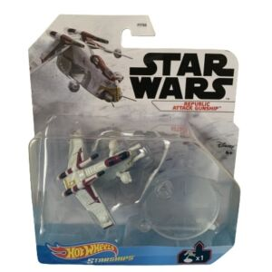 Star Wars Hot Wheels Starships 2021 Mix 3 Vehicles Republic Attack Gunship