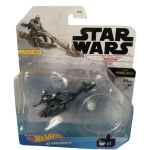 Star Wars Hot Wheels Starships 2021 Mix 3 Vehicles The Mandalorian Speeder