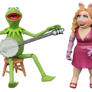 The Muppets Select Best of Series 1 Kermit and Miss Piggy Action Figures with Accessories