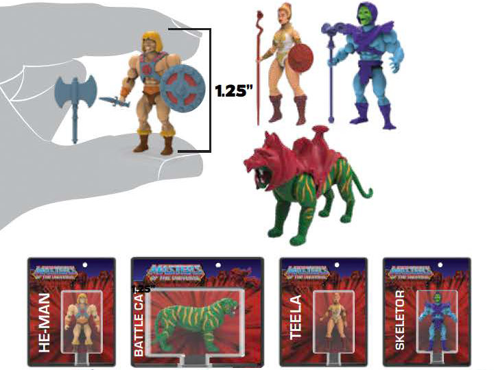World's Smallest Masters of the Univeres Mini Figures