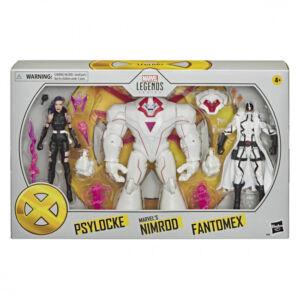 Marvel Legends Series X-Men 6 inch Action Figures Psylocke, Marvel's Nimrod and Fantomex