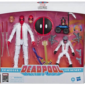 Marvel Comics 80th Anniversary Legends Series 6-Inch Action Figures Vintage Comic-Inspired Deadpool & Hit Monkey 2-Pack