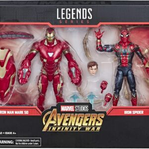 Marvel Legends Series Avengers Infinity War 6 Inch Movie Inspired Iron Man Mark 50 & Iron Spider 2-Pack Action Figures